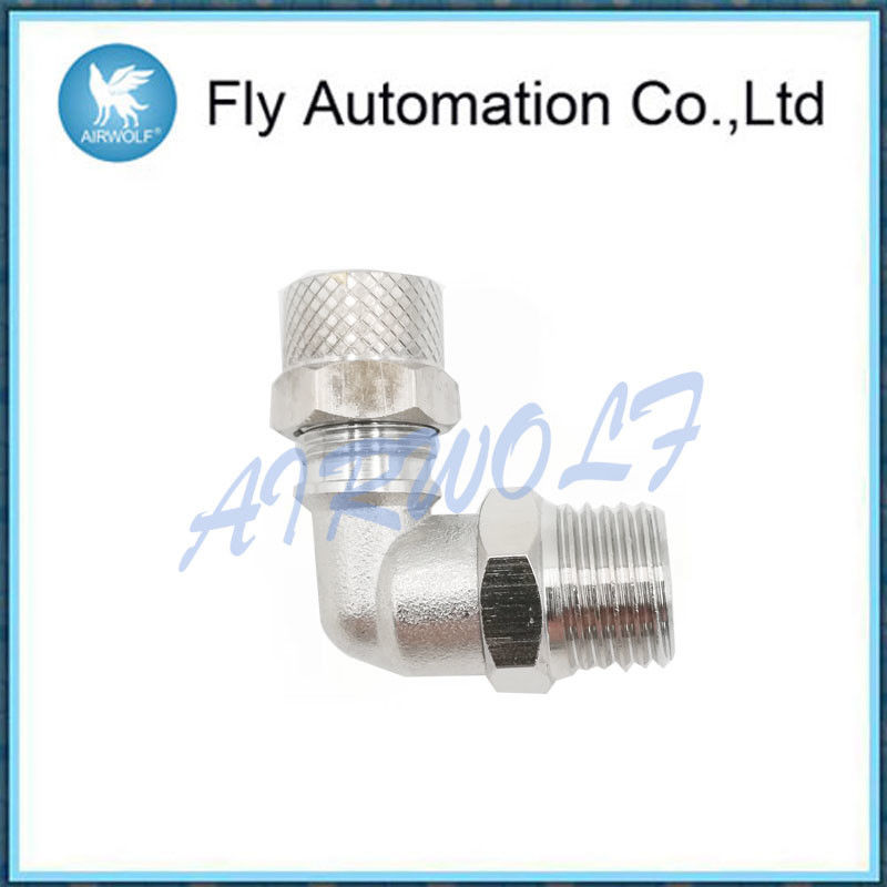 "G1 / 4"" 1541 Pneumatic Tube Fittings With Perpendicular External Thread"
