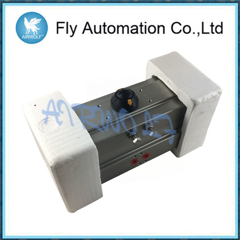 "AT92 1/2"" 1""  1.5""  2""  Spring Return Single Acting Pneumatic Actuator Silver Aluminum Alloy Materials"